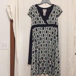 Karin Stevens Long Ladies Dress Size 10 geometric